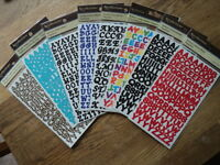 RECOLLECTIONS ALPHABET STICKERS LOTS TO CHOOSE FROM 2 SHEETS IN EACH PACK BNIP