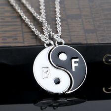 Yin Yang and Two Flap Stitching Pendant Necklace Gift for Good friends Hot Alloy