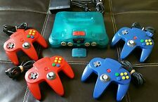 Ice Blue N64 Bundle- 4 Controllers, Expansion Pack- Original/Rare/Must See!