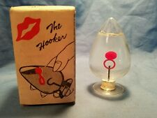 "VINTAGE GLASS NOVELTY BRAIN TEASER SKILL GAME ""THE HOOKER"" IN ORIGINAL BOX Nanco"