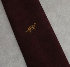 CLUB ASSOCIATION TIE BURGUNDY GOLD CREST COMPANY LOGO BY ALEC BROOK 1980s 1990s
