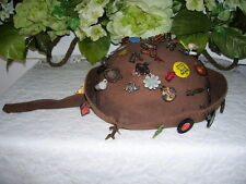 BROWNIE JUGHEAD HAT WITH CRACKER JACK CHARMS SPARK PLUG BOWING KNIFE FOOTBALL