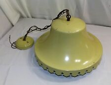 Vintage Mid-century Farmhouse Large Metal Hanging Light, Shabby Chic, Retro