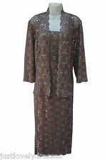 Alex Evenings lace elegant classy mother of the bride dress with jacket  sz 10