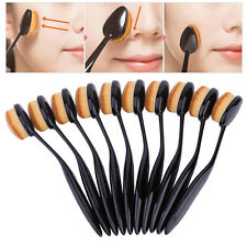 Pro Oval Brush Makeup Tool Cosmetic Foundation Liquid Cream Powder Blusher New