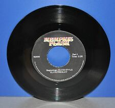 "7"" Elvis Presley Beginning ELVIS Style Memphis Flash 92444 conversation Vinyl"
