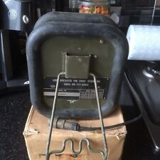 CLANSMAN MILITARY L/ROVER FREESTANDING AUDIO SPEAKER & CABLE c/w VOLUME CONTROL