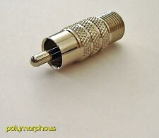 NEW Pico Macom Steren Easy Grip Coax Female to RCA Push-on Adapter!