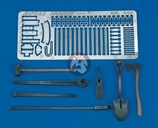 Royal Model 1/35 US Tanks Tools & Holders WWII [Resin with Photo-etch kit] 443