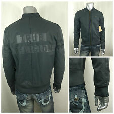 NWT $398 TRUE RELIGION BIG LOGO On Back Gray Men's JACKET Size M
