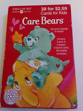 1995 American Greetings Sealed Box of 38 CARE BEAR Valentine Cards for Kids