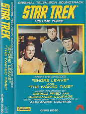 STAR TREK V3 SHORE LEAVE NAKED TIME COURAGE CASSETTE ALBUM TV SOUNDTRACK