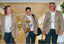 Jose M OLAZABAL Darren CLARKE Miguel A JIMENEZ ALL 3 SIGNED AUTOGRAPH Photo COA