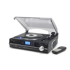 Steepletone ST929 PRO MP3/USB/SD 3 Speed Stereo Music Record Player in Black