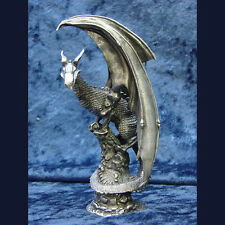 Cold Drake Dragon of the North Pewter Figurine Rawcliffe Swarofski Crystal Eyes