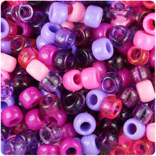500 Wild Berry Mix 9x6mm Barrel Pony Beads Made inthe USA by The Beadery