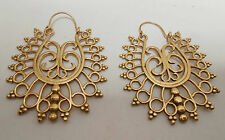 Tribal Handmade Spiral Gold Plated Brass Exclusive Design Earring pair Jewelry