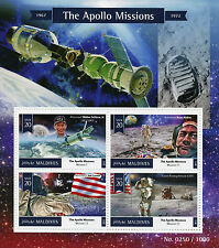 Maldives 2015 MNH Apollo Missions 4v M/S Space Astronauts Buzz Aldrin Jim Lovell