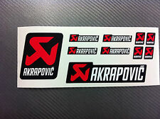 Kit 10 Adesivi Stickers AKRAPOVIC white resistente al calore