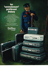 PUBLICITE ADVERTISING 034   1972   DELSEY  airstyle Valises bagages