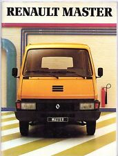 Renault Master 1981 French Market Sales Brochure P35 P35D Van Chassis Cab