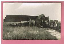 CARTE PHOTO  -  AVIATION -    ACCIDENT D 'AVION