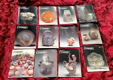 12 Pc Lot Mixed Ceramics Monthly Back Issue Magazine 2001 - 2005✞