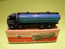 DINKY TOYS 504 FODEN 14-TON TANKER - RARE SELTEN - EXCELLENT CONDITION IN BOX