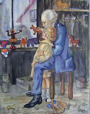 Ilustraciones de los niños en el taller w/col Doris Blanco (nacido 1908)