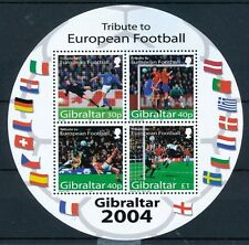 Gibraltar 2004 MNH Odd Unusual Round Shape SS, Football, Sports, Soccer  -NM6