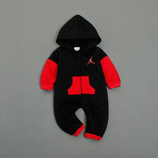 NEW BABY JORDAN BLACK ROMPER TOP BABY BOY BABYGROWS BODYSUIT OUTFITS CLOTHES SET