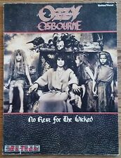 OZZY OSBOURNE NO REST FOR THE WICKED GUITAR TAB TABLATURE SONGBOOK