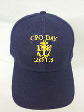 USN UNITED STATES NAVY CPO DAY 2013 EMBROIDERED BALL CAP NEW