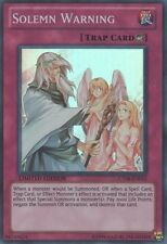Yugioh Solemn Warning CT08-EN015 Limited Super Rare Near Mint Fast Shipping!