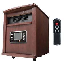 Haier 5200 BTU 1500W 6-Element Infrared Space Heater + Remote, Cherry |HHC15CPCW