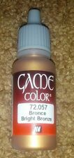 Vallejo Paint Game Color Bright Bronze 72057 Eye Dropper Bottle 17ml
