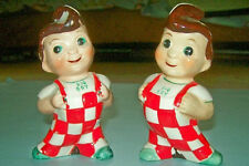 Rare Ceramic Big Boy Figural Salt & Pepper Shakers from the 1950s/1960s