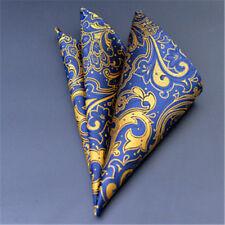 Men's Wedding Party Silk Satin Solid Floral Hanky Pocket Square Handkerchief F13