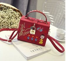 MW008724 - CUTE EMBROIDERY SMALL SATCHEL SHOULDER BOX BAG