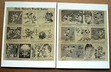 1968 Detroit Tigers World Series Comic Strips - 2 Sheets Highlighting the Series