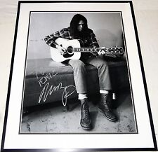 NEIL YOUNG VINTAGE HAND SIGNED AUTOGRAPHED CUSTOM FRAMED16X20 PHOTO! PROOF+COA!