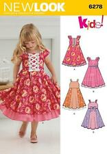 NEW LOOK SEWING PATTERN CHILD'S DRESS WITH TRIM VARIATIONS  3 - 8 6278 SALE
