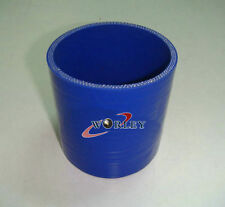 "3"" Inch 76mm Blue Silicone Straight Hose Joiner Intake Intercooler Couple pipe"
