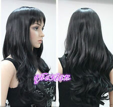 FIX431 New style charming long curly black wig hair Wigs for women
