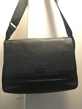 NEW Messenger Bag Roberto Cavalli Class 100% Leather Shoulder Strap  Black