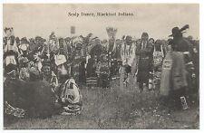 1907 Postcard of Blackfoot Indians doing a Scalp Dance