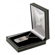 Manchester City Fc Man City Colour Crest Dog Tag & Chain in Gift Box Football