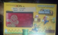 Nintendo 3DS XL Red /Black bundle super mario bros 2 gold edition full installed