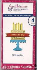 Spellbinders Shapeabilities Die D-Lites cut emboss stencil Birthday Cake 4pc
