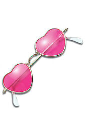 New Hippy Pink Heart Shaped 1960s Fancy Dress Hippie Glasses Specs Sunglasses